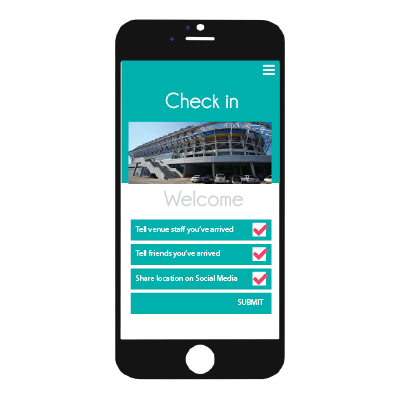 Venu-IQ check in to your hospitality venue