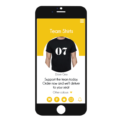 venuiq merchandise purchase in app