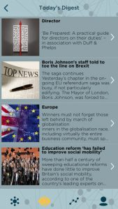 IOD Advance app screen news section