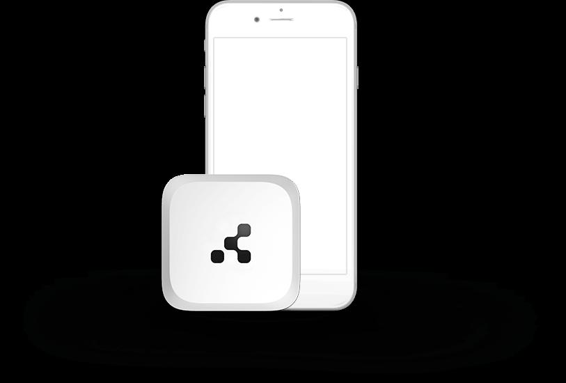 smart beacon next to phone