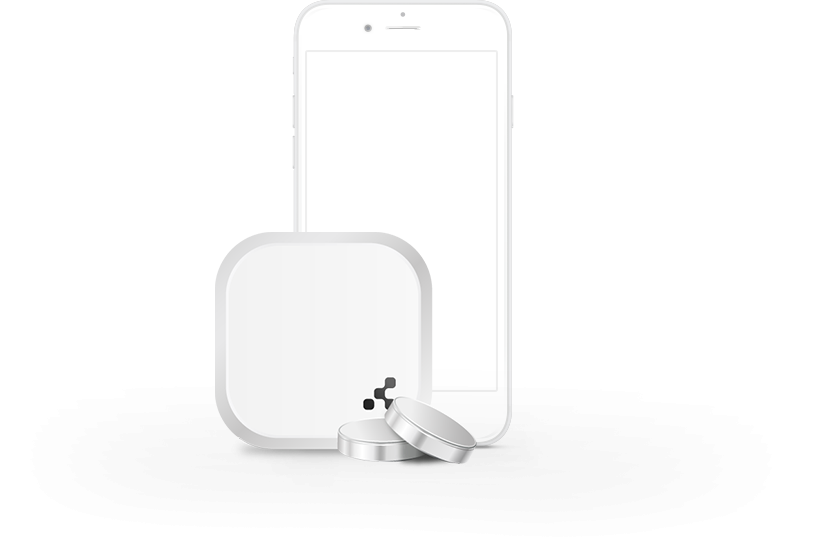 smart beacon two with phone
