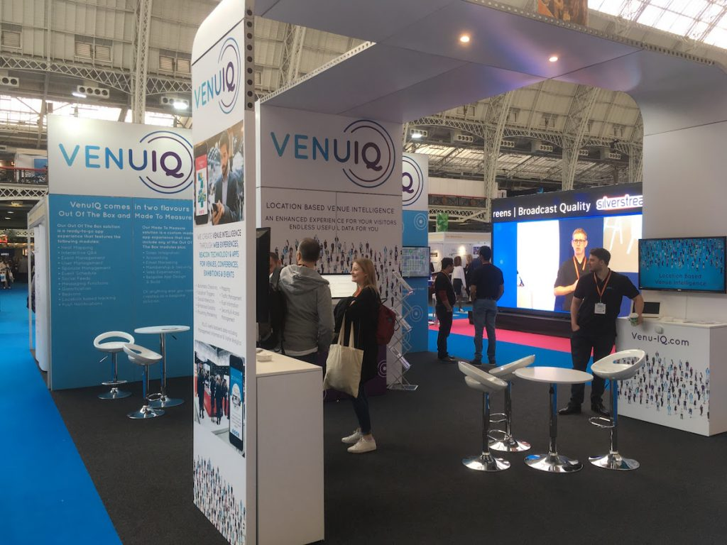 venuiq exhibition stand at Confex 2017