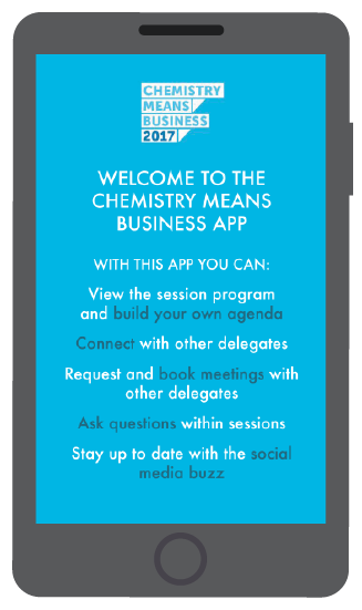 Screenshot from Chemistry Means Business app by VenuIQ