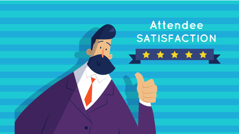 how to increase event attendee satisfaction graphic image