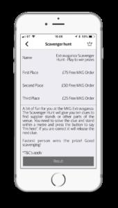 Scavenger hunt image from Event Builder app.
